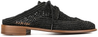 Clergerie Lace-Up Mules