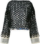 Aviu open knit jumper - women - Cotton/Polyamide/Polyester/Viscose - 40
