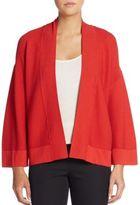 Josie Natori Ribbed Kimono-Sleeve Cardigan