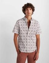 Club Monaco Short Sleeve Ikat Stripe Shirt