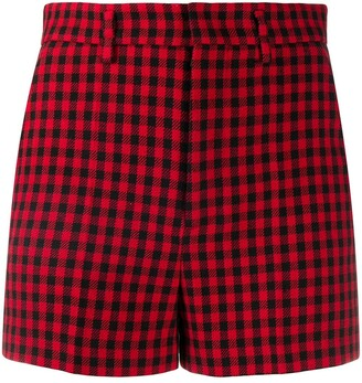 RED Valentino Gingham-Check Shorts
