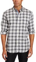 Nautica Men's Long Sleeve Twill Straight Collared Plaid Shirt