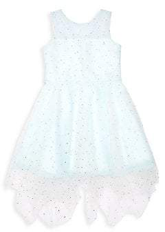 Zoe Girl's Macey Pearl & Crystal-Embroidered Tulle Dress