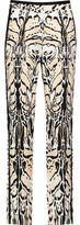 Roberto Cavalli Printed Silk-Twill Tapered Pants