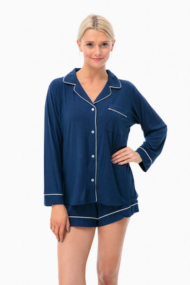 Eberjey Gisele Long Sleeve Short PJ Set