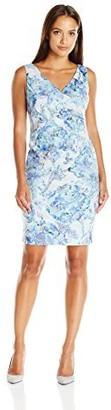 Adrianna Papell Women's Pleat Wrap-Front Sheath Dress