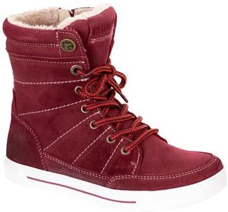 Birkenstock Currow Plum Suede Hi-Top Faux Fur Sneaker Boot - Discontinued (Little Kid)