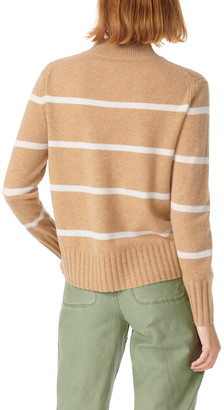 J.Crew Cashmere Mock Neck Stripe Sweater