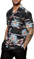 Topman Floral Button-Up Camp Shirt
