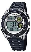 Calypso Men's Digital Watch with LCD Dial Digital Display and Black Plastic Strap K5670/1