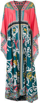 Mary Katrantzou scroll pattern maxi dress - women - Silk/Cotton - XS