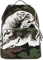 Valentino Green Camo Printed Backpack