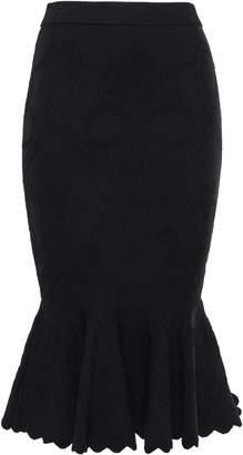 Jonathan Simkhai Fluted Stretch Jacquard-knit Midi Pencil Skirt