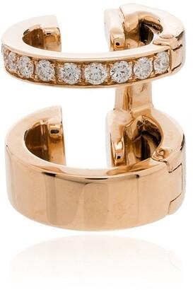 Repossi 18kt rose gold Berbere diamond earring cuff