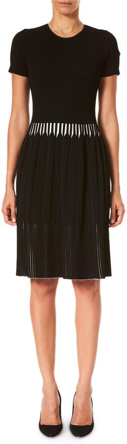 Thumbnail for your product : Carolina Herrera Pleated Short-Sleeve Dress