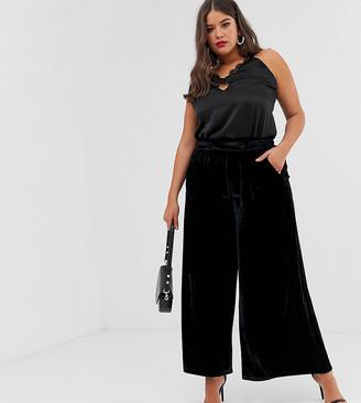 ELVI wide velvet suit trousers