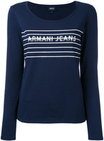 Armani Jeans printed knitted top - women - Cotton/Spandex/Elastane - 38