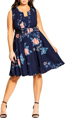 City Chic Veronica Aika Fit & Flare Dress