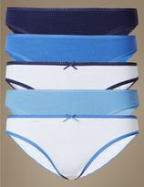 Marks and Spencer 5 Pack Pure Cotton Bikini Knickers