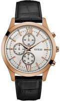 GUESS Black and Rose Gold-Tone Chronograph Watch
