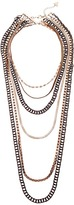 GUESS 6 Strand Mixed Metal Necklace