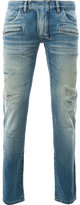 Balmain ripped skinny jeans - men - Cotton/Polyurethane - 29
