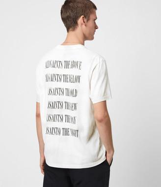 AllSaints Tie Dye Stamp Crew T-Shirt