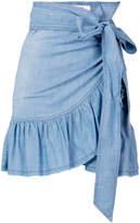 Etoile Isabel Marant frill hem wrap skirt