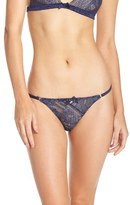 L'Agent by Agent Provocateur 'Sienna' Metallic Lace Tanga