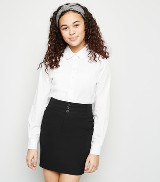 New Look Girls Stretch 3 Button Skirt