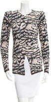 Roberto Cavalli Cashmere Patterned Cardigan