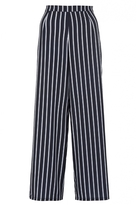 Quiz Navy And White Crepe Stripe Palazzo Trousers