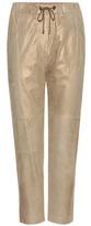 Brunello Cucinelli Metallic suede trousers