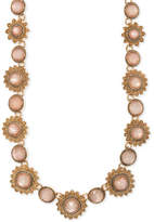 Marchesa Gold-Tone Colored Stone Collar Necklace