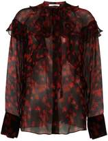 Givenchy printed sheer shirt