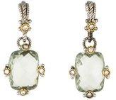 Judith Ripka Diamonds & Quartz Earrings