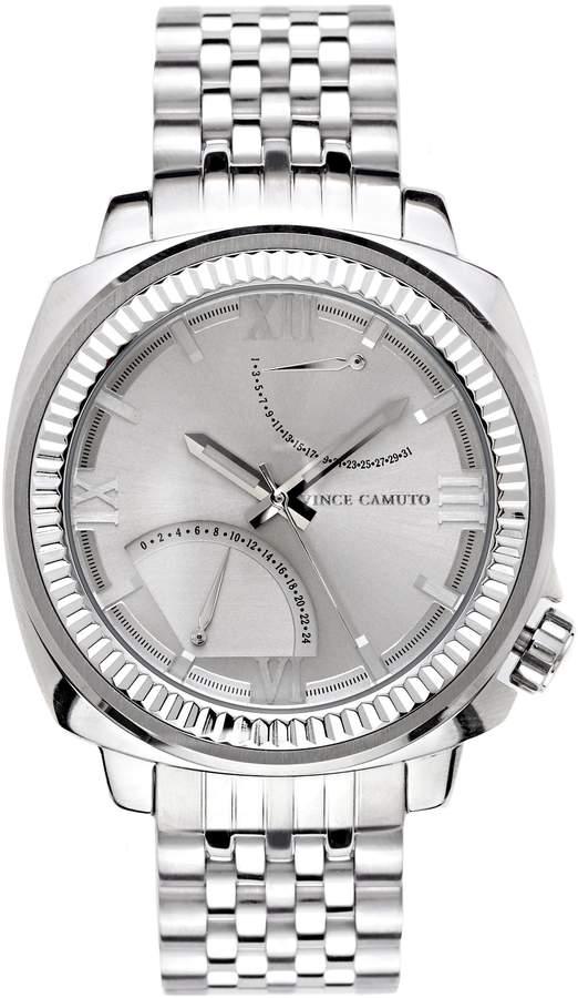 Vince Camuto The Veteran Silvertone Watch