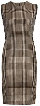 Akris Prince De Galles Check Virgin Wool Sheath Dress