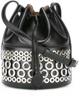 Alaia bucket bag with grommets