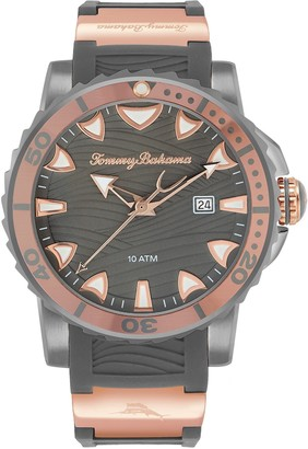 Tommy Bahama Men's Shark Reef Diver Silicone Strap Watch