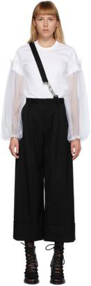 Noir Kei Ninomiya Black Wool Single Suspender Trousers