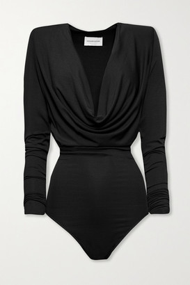 Alexandre Vauthier Draped Stretch-jersey Bodysuit - Black