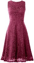 MACloth Women Open Back Lace Short Wedding Party Dress Formal Cocktail Prom Gown
