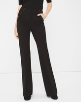White House Black Market Stud-Detail Ponte Flare Pants