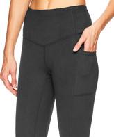 Gaiam Women's Leggings CHARCOAL - Charcoal Heather Pocket Om 29'' High-Waist Leggings - Women