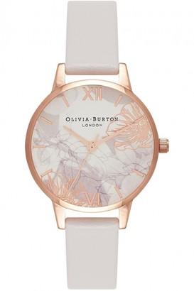 Olivia Burton Ladies Abstract Florals Blush & Rose Gold Watch OB16VM12