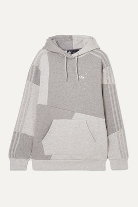 adidas Danielle Cathari Patchwork Cotton-terry Hoodie - Gray
