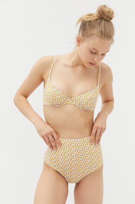 Out From Under Printed Jaime High-Waisted Bikini Bottom