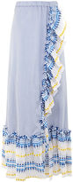 Lemlem Blue & White Stripe Mwali Convertible Dress
