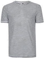 Topman Stripe Linen Look T-Shirt